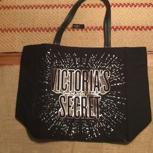 NEW Victoria's Secret Black Tote Bag